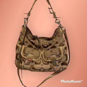 Authentic Coach shoulder bag hand purse
